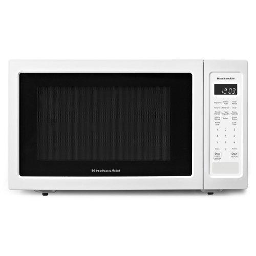 """21 3/4"""" Countertop Microwave Oven - 1200 Watt White"""