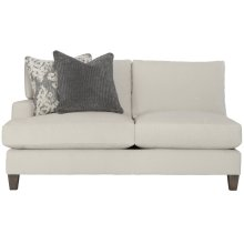Mila Left Arm Loveseat in Aged Gray (788)