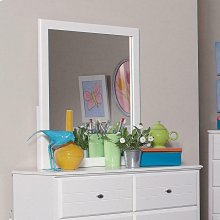 Ashton Transitional White Mirror