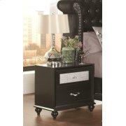 Barzini Two-drawer Nightstand With Metallic Drawer Front Product Image