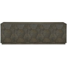 Linea Entertainment Console in Cerused Charcoal (384)