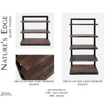 Nature's Edge 5 Shelf Bookcase-brushed Grey