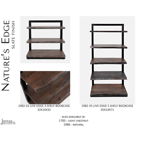 Nature's Edge 5 Shelf Bookcase-brushed Grey