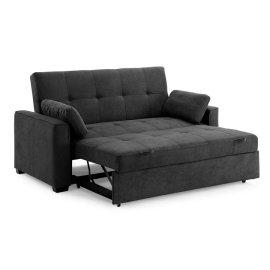 Nantucket Queen Size Sofa Sleeper in Charcoal