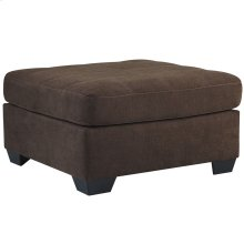 Benchcraft Maier Oversized Accent Ottoman in Walnut Microfiber