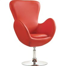 Contemporary Red Swivel Accent Chair