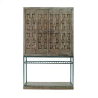 Casa Bella Burl Bar Cabinet Timber Gray Finish Product Image