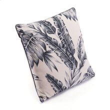 Black Leaves Pillow Black & Beige