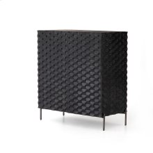 Raffael Bar Cabinet-carved Black Wash