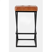 Brooks Leather Stool- Saddle