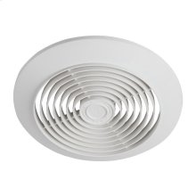 "6"" 60 CFM Ceiling Ventilation Fan, White Plastic Grille"