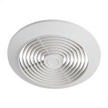 """6"""" 60 CFM Ceiling Ventilation Fan, White Plastic Grille"""