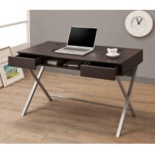 Contemporary Cappuccino Writing Desk