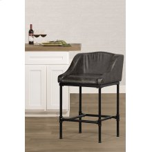 Dillon Stationary Bar Stool - Matte Black