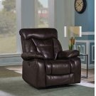 Zimmerman Dark Brown Faux Leather Power Motion Recliner Product Image