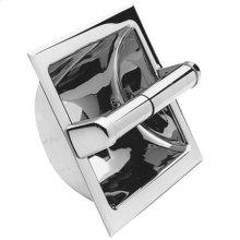 Aged Brass Recessed Toilet Tissue Holder