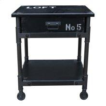 Soho 1 Drawer Cabinet Black