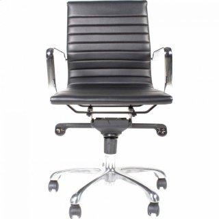 Omega Swivel Office Chair Low Back Black