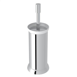 Polished Chrome Perrin & Rowe Holborn Floor Standing Porcelain Toilet Brush Holder Product Image