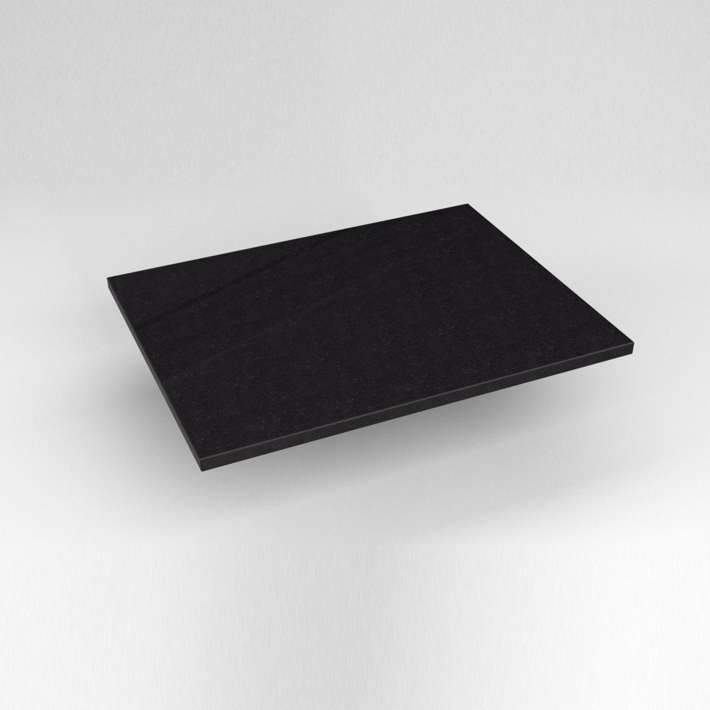 """Engineered Stone 25"""" X 19"""" X 3/4"""" Quartz Dry Vanity Top In Lava Black"""