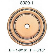 """Round Back Plate/ See 8559 for 1"""" Version"""
