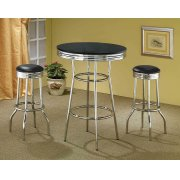 Contemporary Black Bar-height Table Product Image
