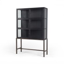 Drifted Black Finish Spencer Curio Cabinet