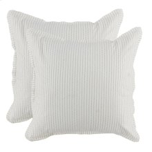 Karina Ivory Gray 2Pc Euro Sham Set