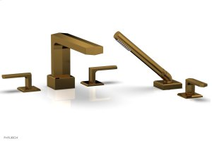 DIAMA Deck Tub Set with Hand Shower - Lever Handles 184-49 - French Brass Product Image