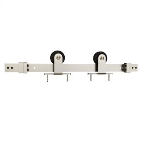 "Sliding Barn Door Hardware - 6'6"" Top Mount - Satin Nickel Product Image"