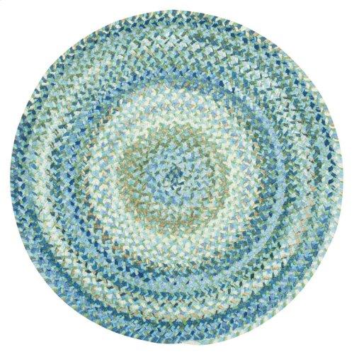 Grand-Le-Fleur Blue Mist Braided Rugs