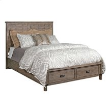 Foundry Panel Queen Bed - Complete W/ Storage Footboard