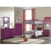 Raspberry Twin/Twin Bunkbed