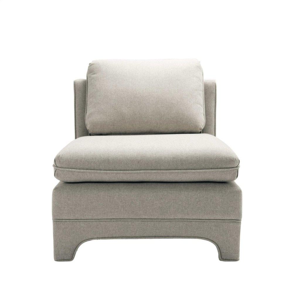 Slipper Chair In Natural Linen