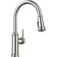 Blanco Empressa Kitchen Faucet With Pulldown Spray - Polished Nickel