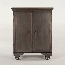 "Hobbs Metal Bar Cabinet 38"" Mango Top"