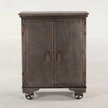 "Hobbs Metal Bar Cabinet 38"" Mango Top"