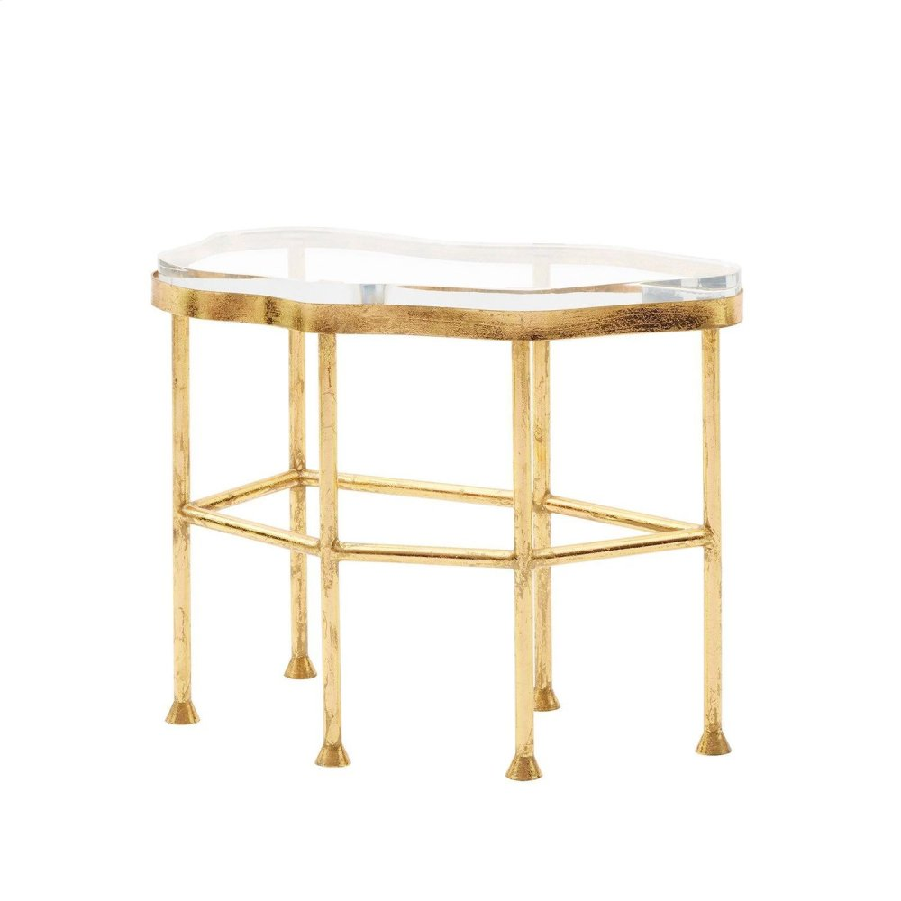 Cristal Side Table, Gold