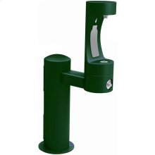 Elkay Outdoor EZH2O Bottle Filling Station Pedestal, Non-Filtered Non-Refrigerated Freeze Resistant Evergreen