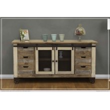 "70"" TV Stand 6 Drawer, 2 Door"