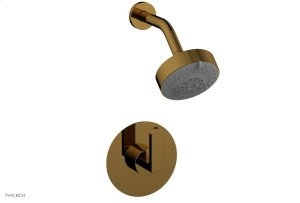 ROND Pressure Balance Shower Set - Lever Handle 183-22 - French Brass Product Image