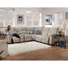 Right Arm 1 Recliner Console Loveseat w/Half Wedge
