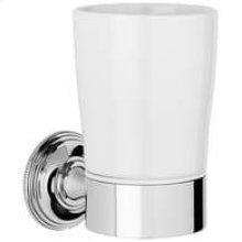 City Bronze White ceramic tumbler holder