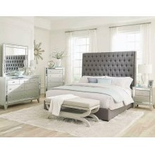 Camille Grey Upholstered King Bed