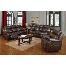 Myleene Chestnut Leather Reclining Sofa