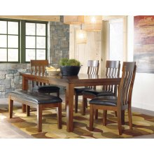 Dining Set (Includes: Table, 4 Chairs & Bench)