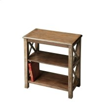 Crafted from poplar hardwood, maple veneers and wood products in the Dusty Trail finish, this bookcase is designed to enhance any decor with style and function.