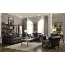 Emerson Transitional Charcoal Sofa