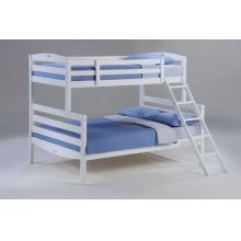 Sesame Twin Full Bunk in White Finish