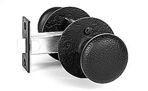 Double Knob Latch Set - Rough Iron Product Image